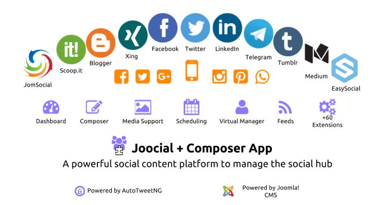 Joocial Composer App Social Cloud 2016 Social Hub Q3