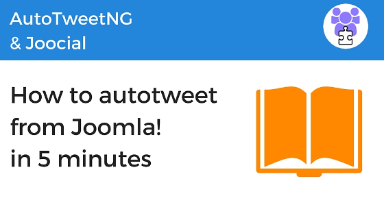 How to autotweet from Joomla in 5 minutes