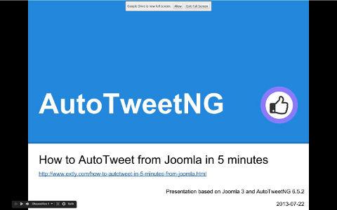 How to AutoTweet from Joomla in 5 minutes