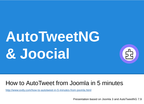 How to AutoTweet from Joomla in 5 minutes2