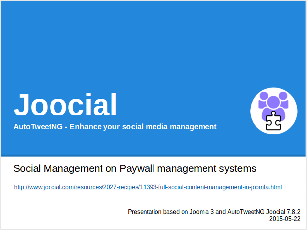 Joocial - Social Management on Paywall management systems