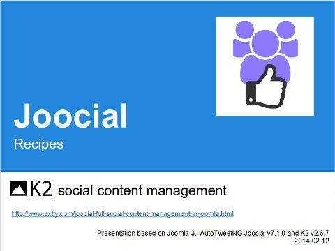 K2 Social Content Management