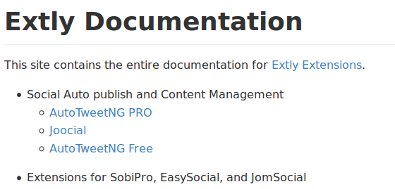 Extly Documentation