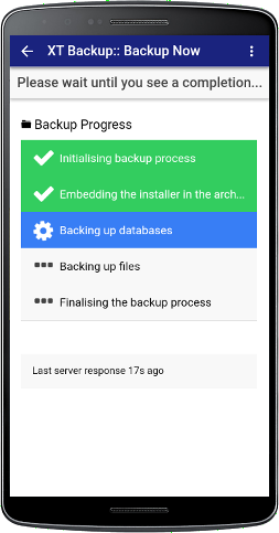 XT Backup for Akeeba - To backup from anywhere you have an internet connection