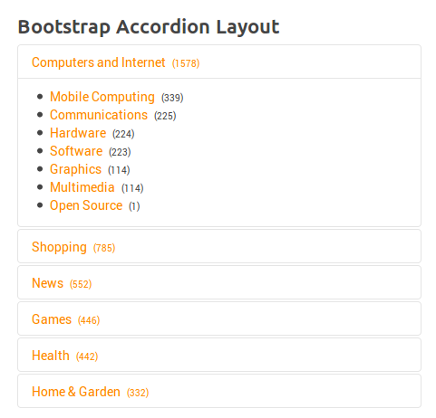 Bootstrap Accordion Layout