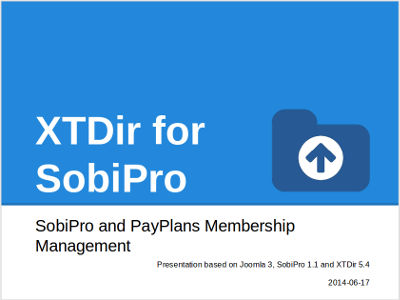 XTDir for SobiPro Recipe: Sobipro and PayPlans Membership Management