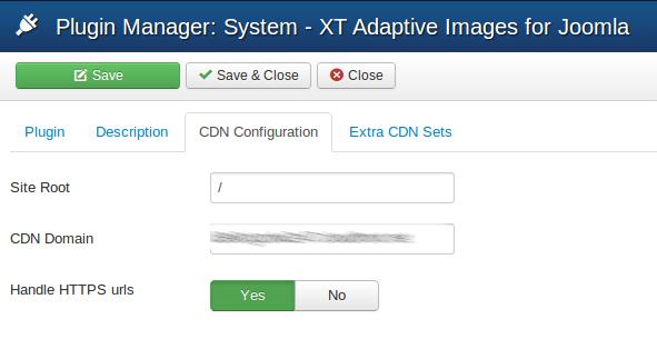 XT Adaptive Images for Joomla - CDN Configuration