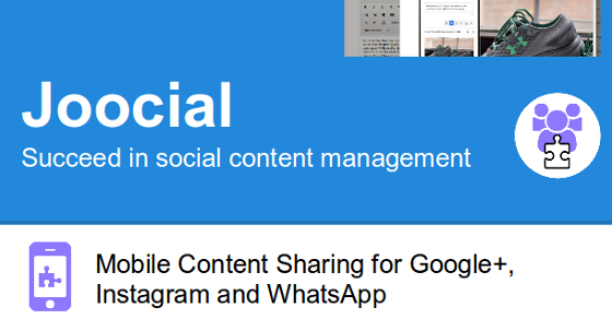 Mobile Content Sharing for Google+, Instagram, WhatsApp and VKontakte