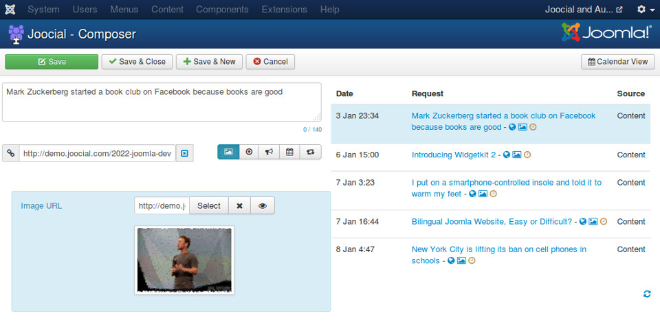 Social Composer - a poweful editor to create and edit social posts
