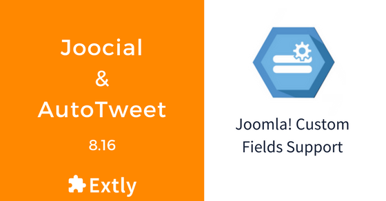 Custom Fields are supported now in AutoTweet Free, PRO, and Joocial 8.16