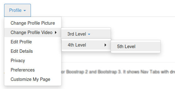 XT Menu - Nav Tabs with dropdowns for Bootstrap 2 and 3