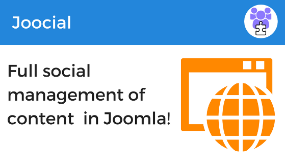 Full social management of content in Joomla!