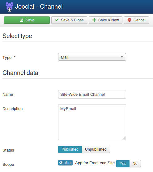 Parent Channel Configuration