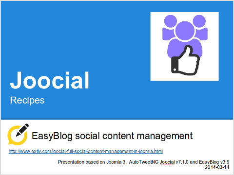 EasyBlog Management of Social Content