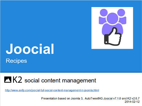 K2 Management of Social Content