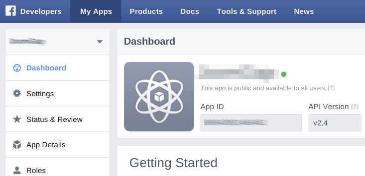Unsupported get request - Facebook has released API 2.4