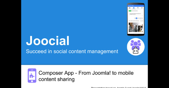 Joocial Composer App - From Joomla! to mobile content sharing