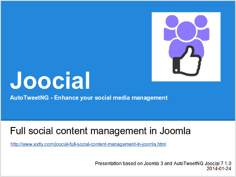 Full management of social content in Joomla!