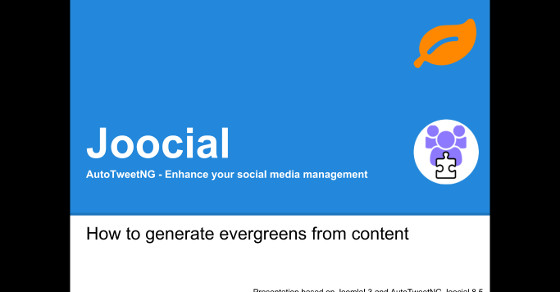 Joocial - How to generate evergreens from content