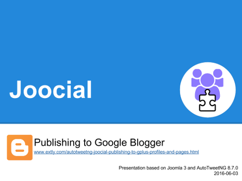 Joocial - Publishing to Google Blogger