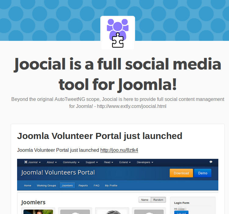 Tumblr channel for Joocial