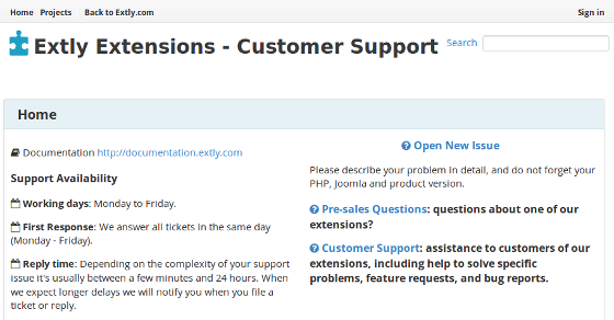 Extly Support Service
