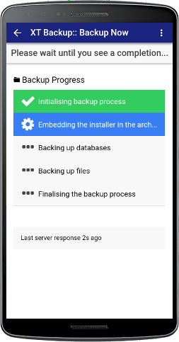 XT Backup - Backup Management - Step 2