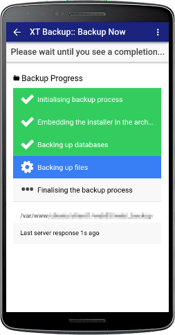 XT Backup - Backup Management - Step 4
