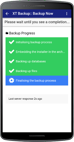 XT Backup - Backup Management - Step 5