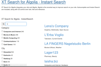 Instant Search Module -  Autocompletion