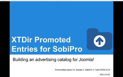 XTDir Promoted Entries - Building an advertising catalog for Joomla!