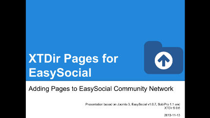 XTDir - Adding Pages to EasySocial Community Network