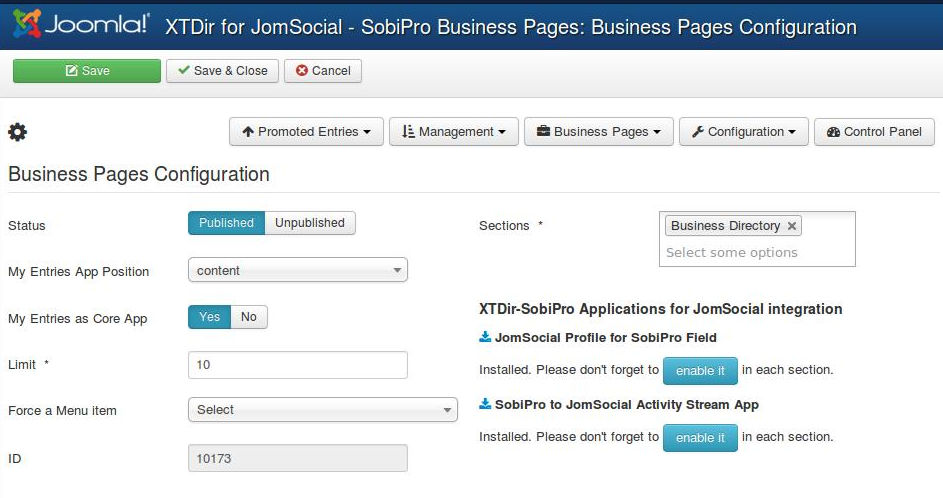 12-XTDir-SobiPro-to-JomSocial-Activity-Stream-Configuration