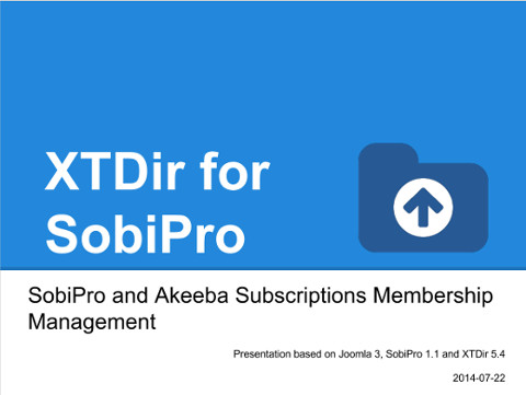 XTDir - SobiPro and Akeeba Subscriptions Membership Management